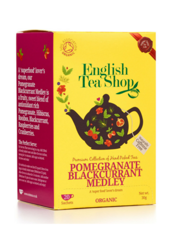 English Tea Shop Herbal Organic Tea - Pomegranate Blackcurrant Medley