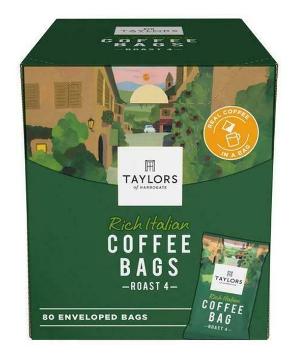 Taylors of Harrogate Rich Italian Coffee Envelopes - 80 Bags Catering Pack