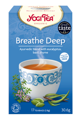 Yogi Herbal Organic Ayurvedic Tea - Breathe Deep