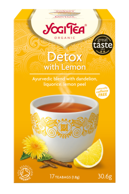 Yogi Herbal Organic Ayurvedic Tea - Detox With Lemon