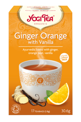 Yogi Herbal Organic Ayurvedic Tea - Ginger Orange With Vanilla