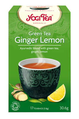 Yogi Herbal Organic Ayurvedic Tea - Green Tea Ginger Lemon
